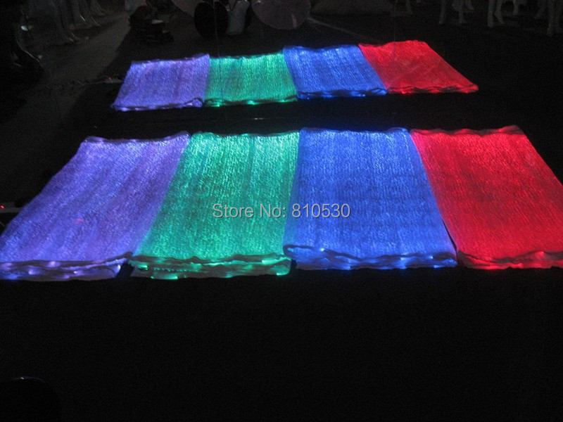 wholesale 10pcs/lot luminous RGB table cloths & textile for weddings decoration bar led decoration modern table runners(China (Mainland))