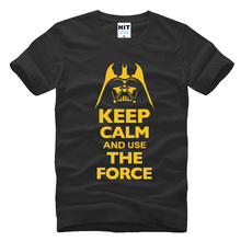 Buy 2016 New Star Wars Darth Vader t shirt men shirt Keep Calm awakens Use THE FORCE emoji tshirt homme funny t shirts boy,ZA143 for $9.99 in AliExpress store