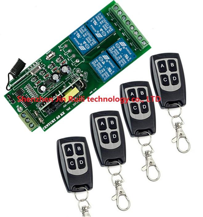 85v~250V 110V 220V 230V 4CH RF Wireless Remote Control Relay Switch Security System Garage Doors, Rolling Gate Electric Doors - JIN HONG INTERNATIONAL Co.,Ltd shops store