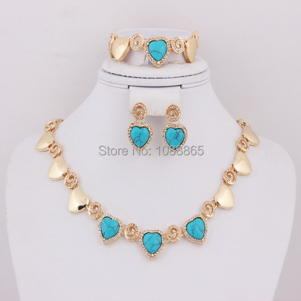 dubai 18k gold plated wedding bridal accessories jewelery sets