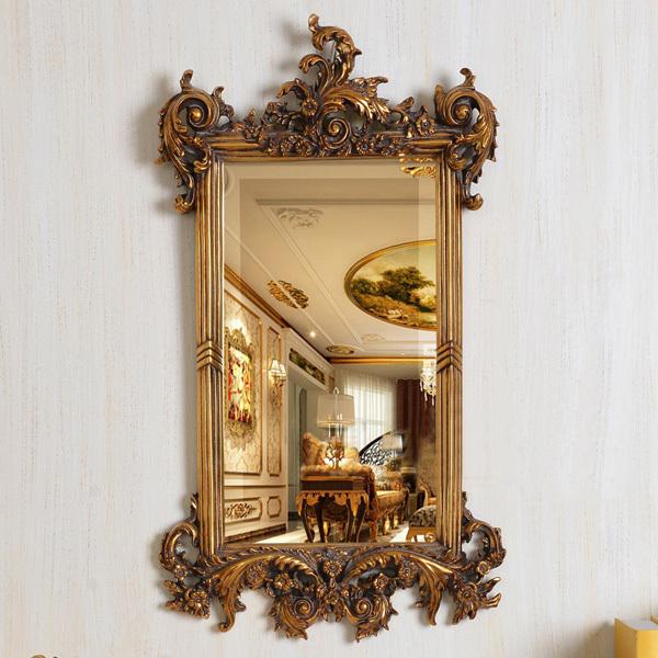 Antiguo europeo refinado espejo de resina de lujo real arte de la pared decoraci n del hotel o - Espejos de resina ...