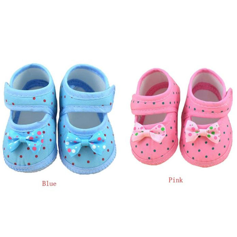 2017 Spring Kids Fashion Girls Shoes Blue And Pink Baby Bowknot Boots Soft Crib Shoes New Trendy Casual toddler girl Shoes(China (Mainland))
