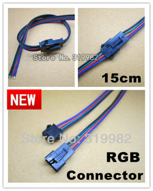 100pairs/lot, RGB strip connector, 4pin SMP RGB connector Wire for LED RGB Strip, pair sale, male and female, free shipping<br><br>Aliexpress