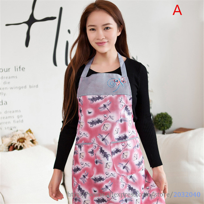 Sleeveless Aprons for Women Cotton Embroidery Chef Waiter Aprons With Pocket Overalls Smock Kitchen Accessories Tools 4 Colors(China (Mainland))