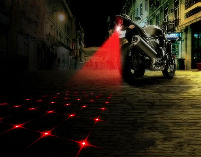 Waterproof Motorcycle Fog Lights Cool Motorbike Tail Light Motorcycle Rear Car Laser Brake Turn Bulb Accessories Car styling(China (Mainland))