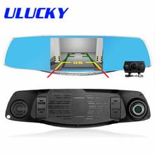 4.3 Inch Dual Camera Lens Review Mirror Car DVRS FHD 1080P G-Sensor Motion Dection Car Video Recorder Dvr Parking Metal Frame