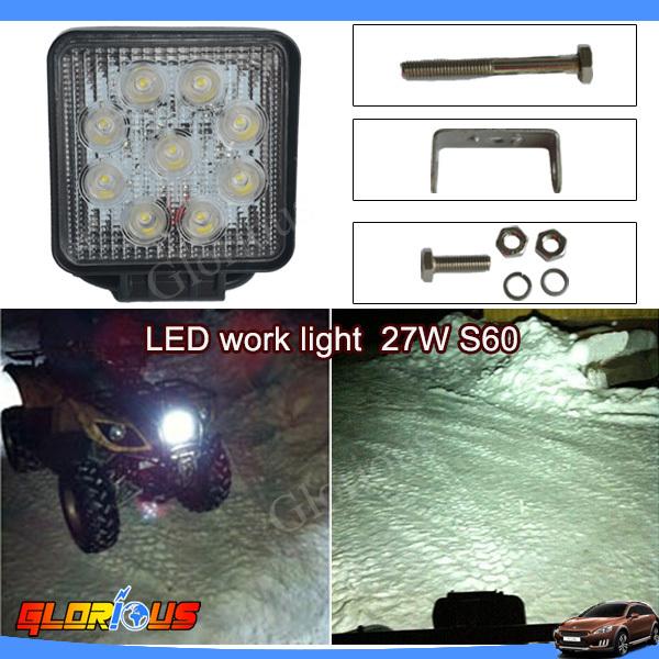 2014 5 NEW sport vehicle lighting 27W led construction working light car lED WORK LIGHT 4X4 12v 24v super brighter long life<br><br>Aliexpress