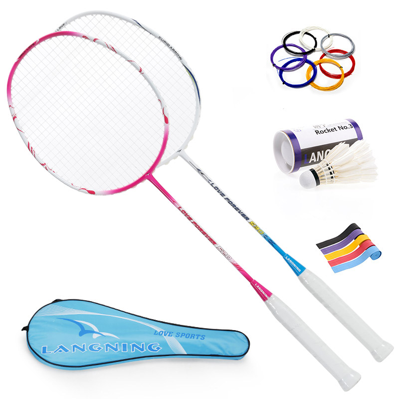 Quality Carbon Badminton Racke 3U New Racquet Fashion Badminton Racket For Love's Popular Valentine Gift Racket Couple 520530(China (Mainland))