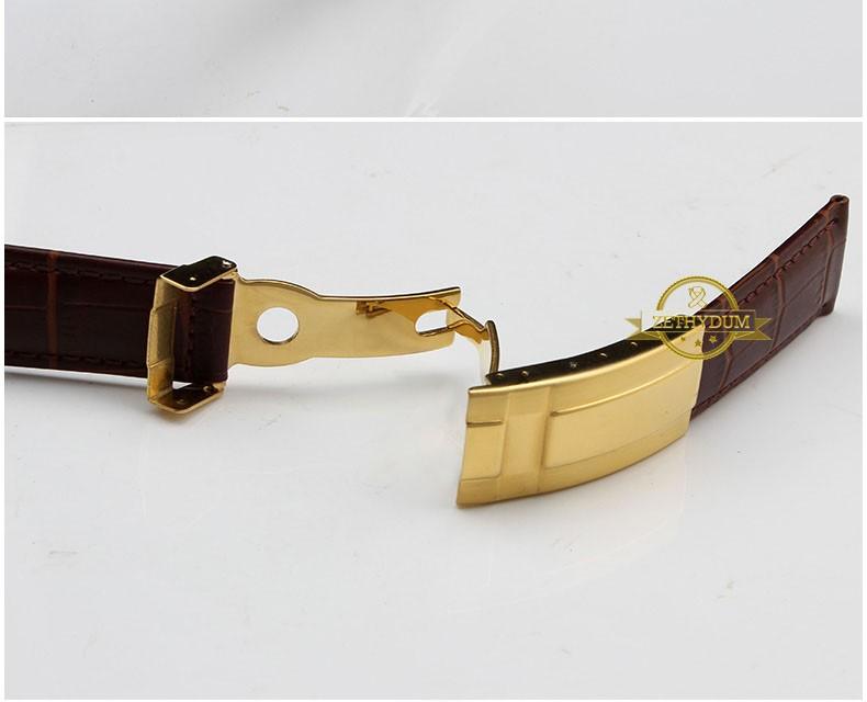 Подлинная кожаный браслет ремешок ручной ремешок для часов 19 мм 20 мм наручные часы группа аксессуары часы складчатого пояса пряжки
