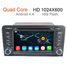 Android 4.4 Car PC DVD Stereo Radio for Audi A3 2003-2011 with GPS Navigation WIFI Bluetooth IPOD AUX IN Support OBDll DVR 3G