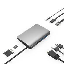Amkle 9-in-1 USB Hub متعدد الوظائف USB-C محور مع نوع C 4K فيديو HDMI جيجابت إيثرنت محول USB 3.1 USB C نوع C3.1 Hub(China)