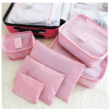 Hot Sale 6 Pieces One Set Storage Bags Polyester High Quality Large Capacity Of Travel Bag Unisex Clothing Sorting Organize Bag(China (Mainland))