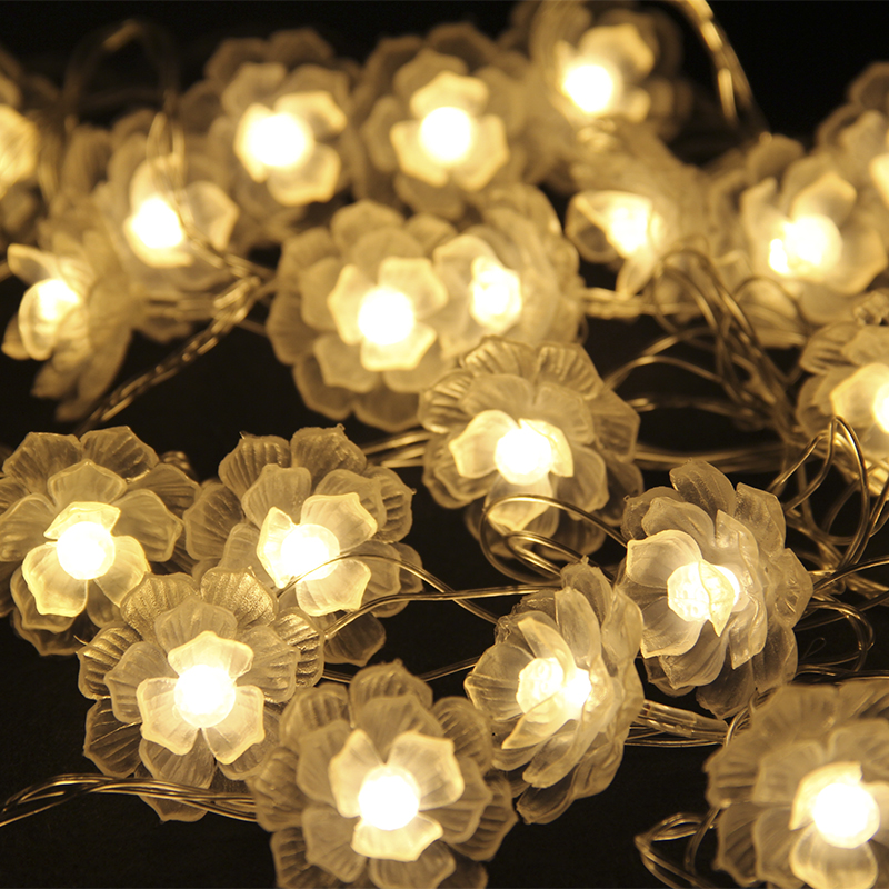 Led String Lights Wedding : 5M flower light 28LEDs 220v LED string lights warm white Christmas Lights wedding party ...