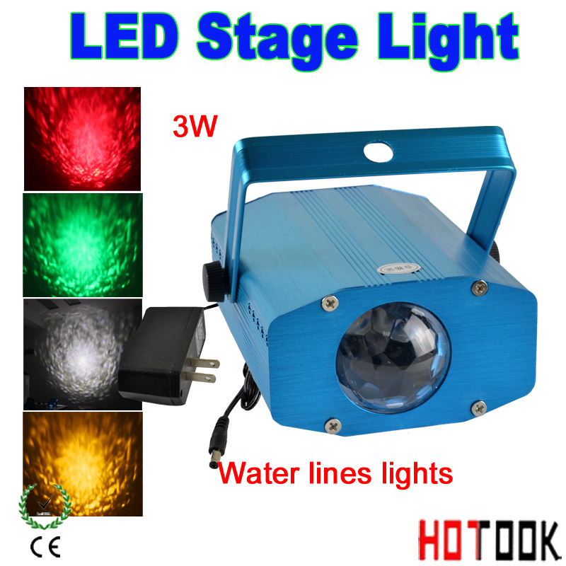 Гаджет  Professioal Watermark 3W Colorful LED Water Wave Flowing DJ Effect Stage Light  Party DJ party disco licht LED Water Lines lamp None Свет и освещение