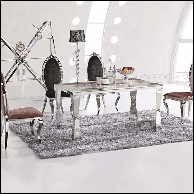 Dining table sets marble dining table 4 chairs modern for Stylish dining table set