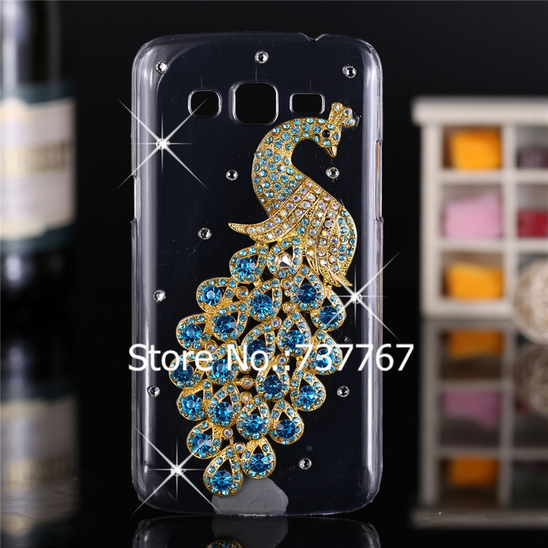 Luxury 3d case For Samsung Galaxy Grand 2 Crystal Bling Case Rhinestone Cover For Samsung Galaxy Grand 2 G7102 G7105 G7106 Case(China (Mainland))
