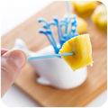 Free shipping cute fruit fork sprinkler beluga whale animal suit innovative fruit fork small sign of
