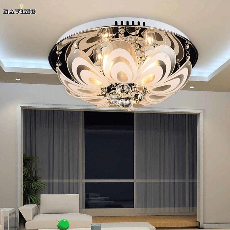 Modern minimalist living room lamp crystal lamp led for Minimalist bedroom lighting