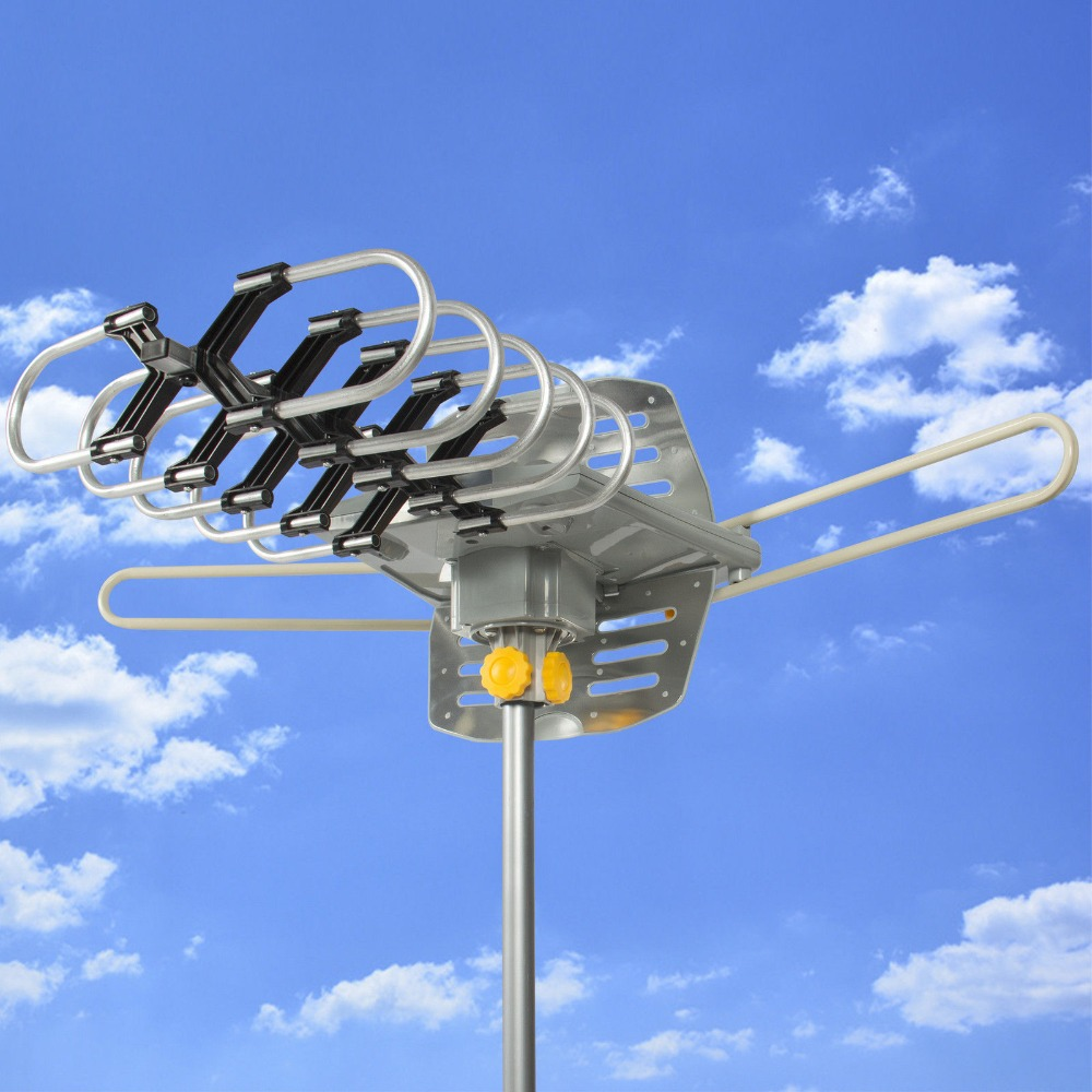Outdoor Amplified 150 Miles Antenna 360 UHF/VHF/FM HD TV Rotor Remote HDTT365(China (Mainland))