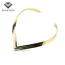 2014 North Africa Popular Torques Collar Chokers Fashion 3 Layer Bright Metal Weld Bib Women Necklaces Statement Jewelry CE2524