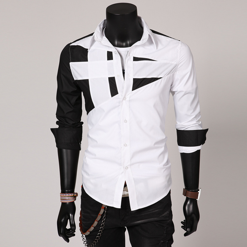 Hot sale new 2014 fashion slim fit stylish long sleeve men for Mens fashion dress shirts