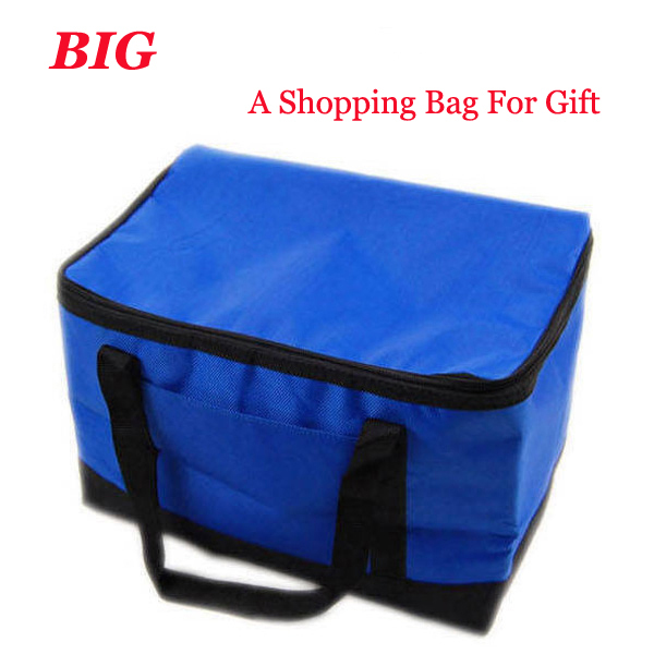 2015NEW 600D Folding Insulation Large meal package lunch Cold Storage Take-away bag Ice Pack Cooler Bag(China (Mainland))