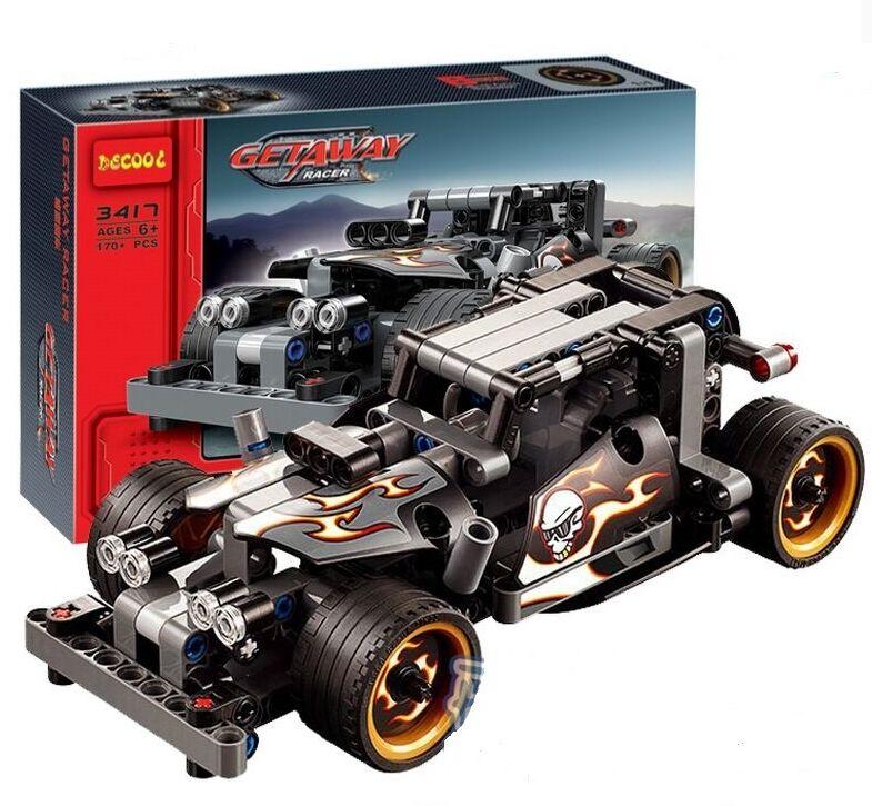 NEW Decool Technic series GETAWAY RACER Building Block Educational Car Model Bricks compatible with legoe(China (Mainland))