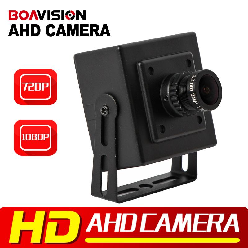 CMOS 720P 1080P CCTV Security AHD Camera 0.01 Lux 2.8mm Lens Analog HD 2000TVL Mini AHD Camera 1MP 2MP Metal Indoor Use Black(China (Mainland))