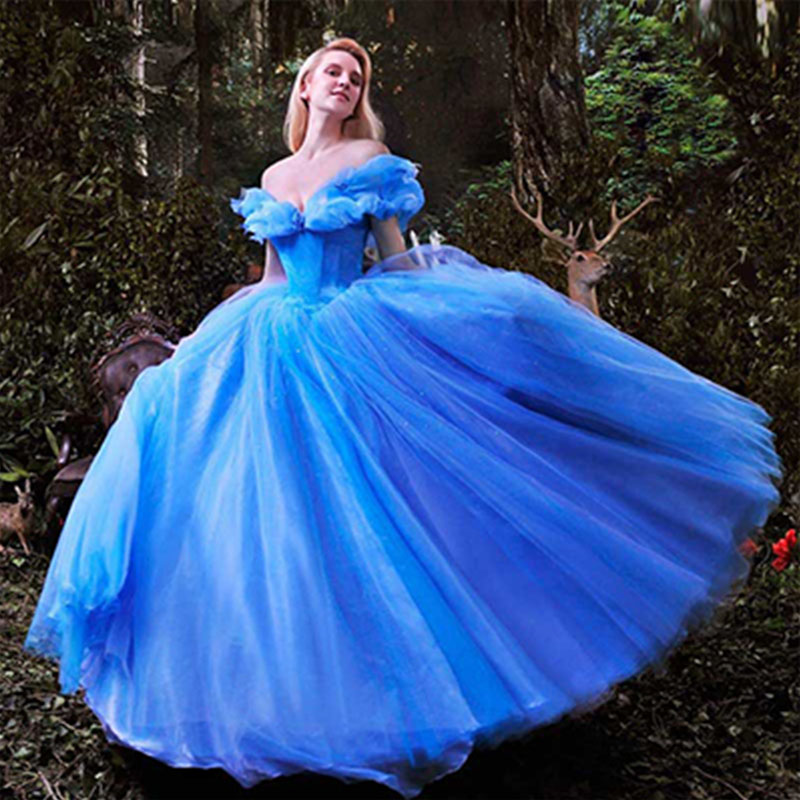 Cinderella Themed Wedding Dresses : Aliexpress buy wowbridal new movie deluxe blue