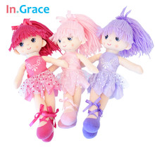 In.Grace Ballerina girl dolls beautiful handmade princess dancing girls wedding dolls unique gifts for kids girl 12inch 3 colors(China (Mainland))