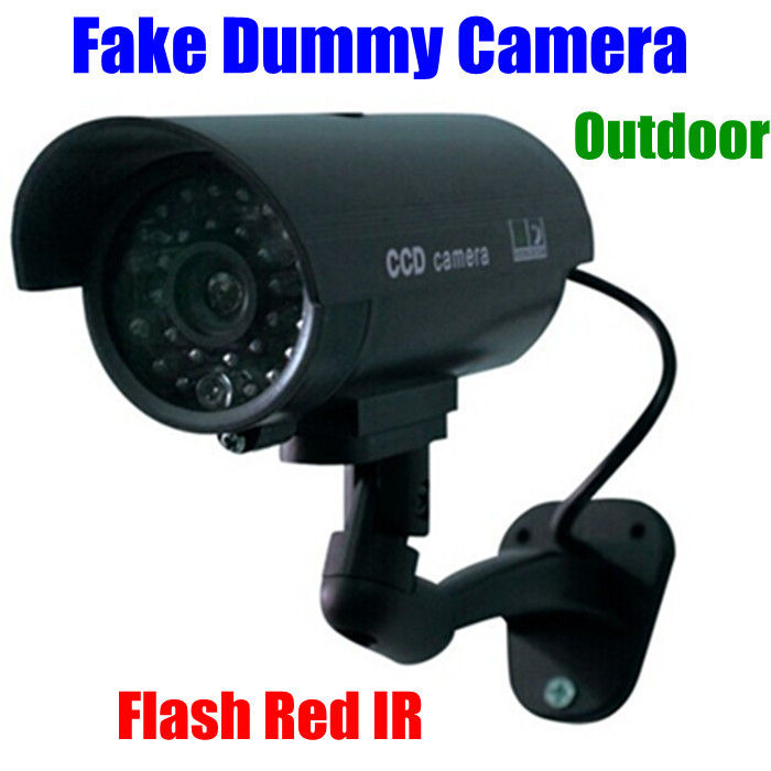 CCTV false Emulational Outdoor Fake Dummy Security Camera cam waterproof Decoy IR Wireless Blinking Flashing Red Led - CYBO store