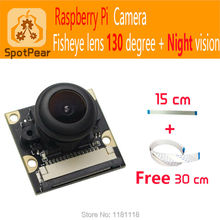 Raspberry Pi Camera Module Board 5MP Wide Angle fisheye 130 +Night Vision Surveillance Lenses camera 1080p for Raspberry pi 3(China (Mainland))
