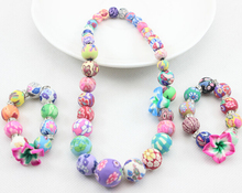 Baby Girls Chunky Necklace Toddler Bead Necklace Bubblegum Necklace Day at the Park Necklace 5 pcs/lot(China (Mainland))