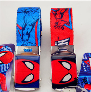 2015 New Arrival Kids anime Spiderman supermen Belts Cartoon Character Children Jeans Belt Fashion Boys & Girls Belts