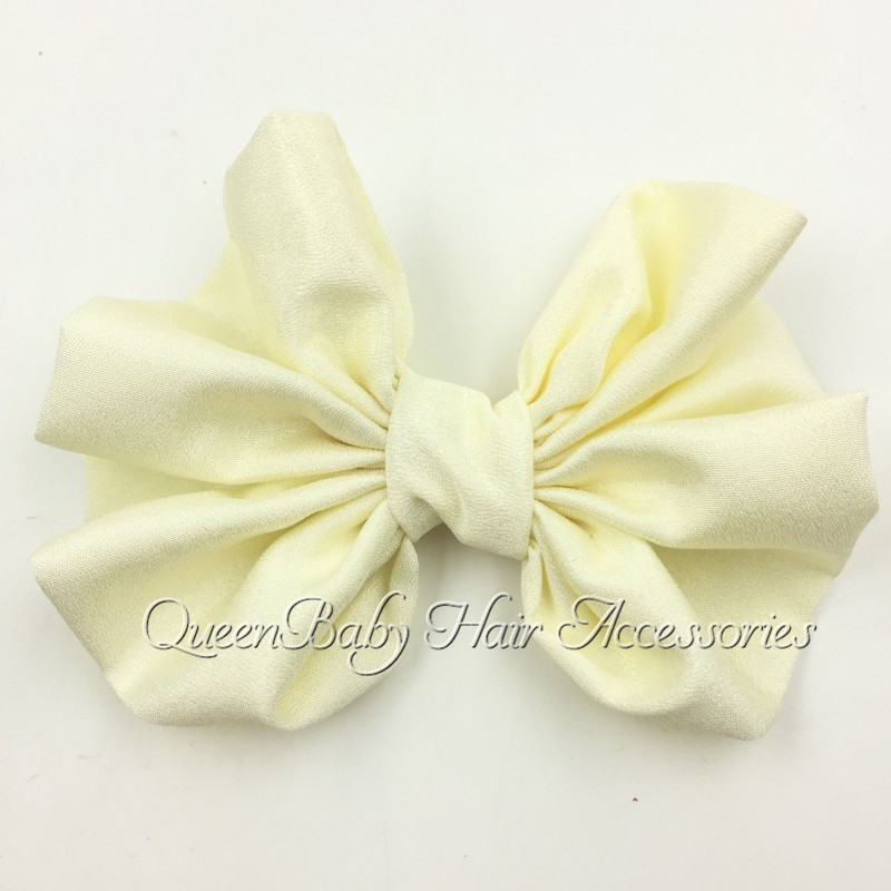 240pcs/lot  4 Chiffon  Bow  Accessories Solid Bow Without Hair Clips Flat Back<br><br>Aliexpress
