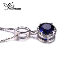 Fabulous Vintage Sapphire Necklace Women Solid 925 Sterling Silver Minimalist Necklace Blue Wedding Engagement Girl Jewelry Gift(China (Mainland))