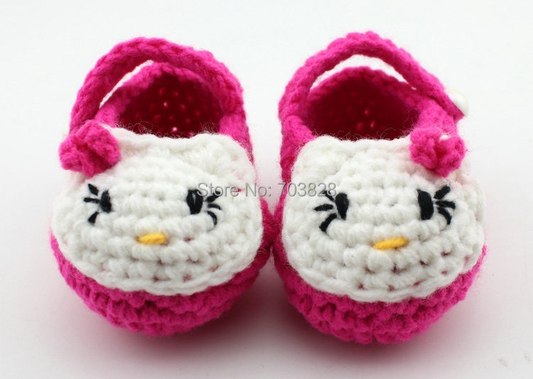handmade Crochet Baby girls first walker shoes Children's toddler pre-walker Child wear