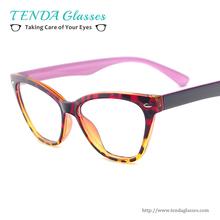 Fashion Women Cat Eye Glasses Lightweight Plastic Eyewear Frame For Prescription Lenses(China (Mainland))