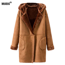 Women Leather Jacket 2016 New Women Winter Lamb Wool Suede Coat Long Fashion Leather Suede Jacket Jaqueta de Couro Feminina(China (Mainland))