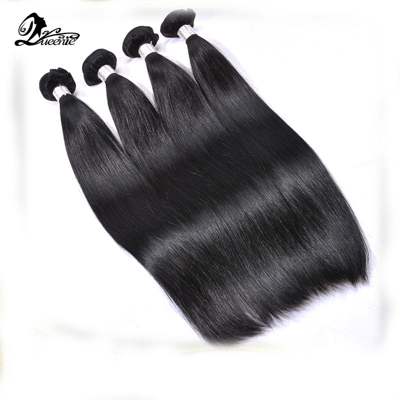 Queenie hair products brazilian virgin hair 4pcs lot,brazilian straight hair weave bundles 100% human hair extension tangle free