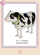 Free Shipping Hot sale Classic Toys Inflatable Walking Cow Helium Foil Balloons,Walking pet Balloons Party Decoration Balloons(China (Mainland))