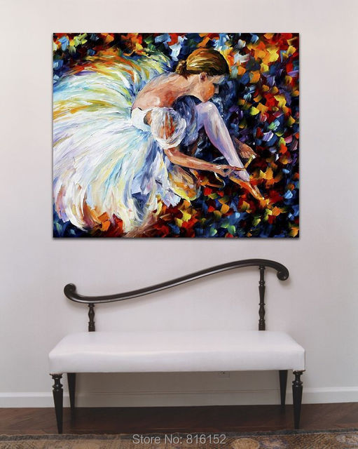 ballerina modern abstract oil painting canvas art best for home office hotel decoration best office art