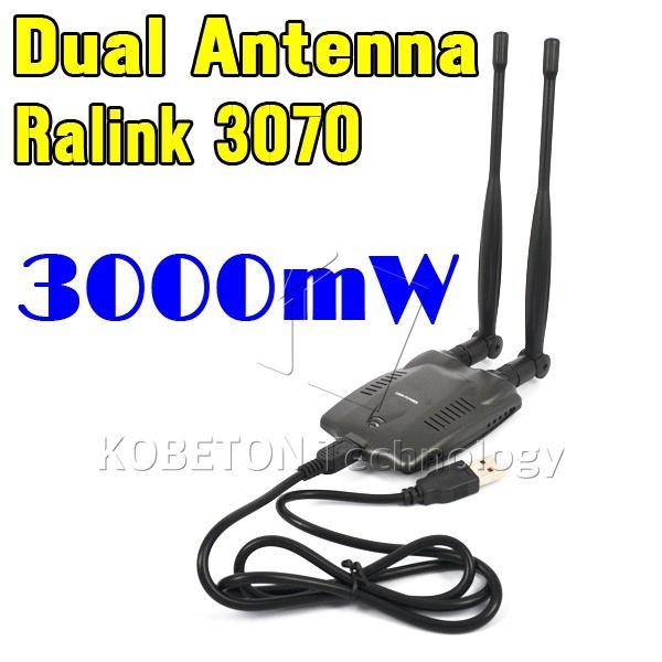 2015 Newest USB 2.0 Wireless BT-N9100 Beini free internet 3000mW High Power Dual OMNI Antenna Wifi Adapter Ralink 3070(China (Mainland))