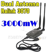 2015 Newest USB 2.0 Wireless BT-N9100 Beini free internet 3000mW High Power Dual OMNI Antenna Wifi Adapter Ralink 3070(China (Mainland))