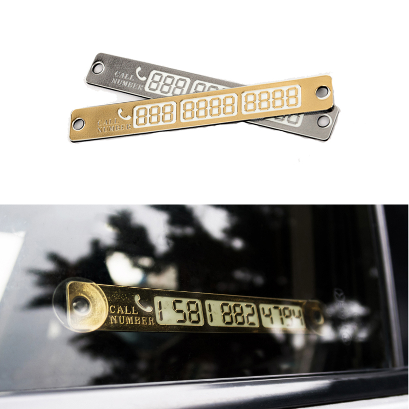 Temporary Car Parking Card Telephone Number Card Notification Night Light Sucker Plate Car Styling Phone Number Card(China (Mainland))