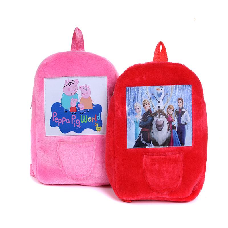 New Design High Quality Plush Bags Kids 100% Cartoon Soft Plush Doll Backpack For Girls Boys Bags Plush Bag XFB003(China (Mainland))
