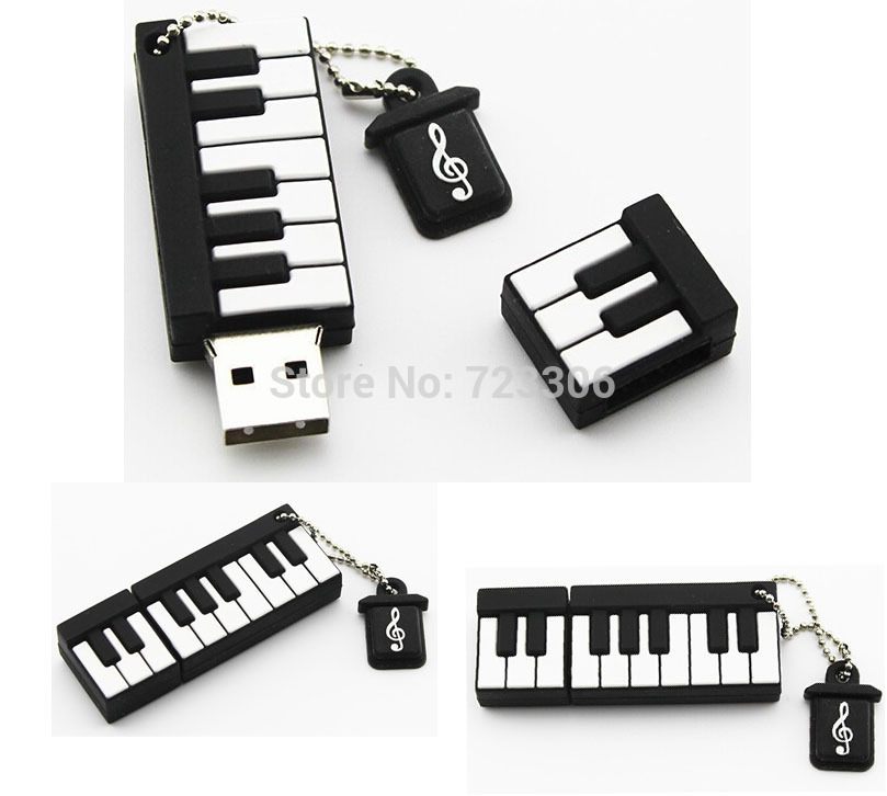 pen drive silicone piano 4gb/8gb/16gb/32gb bulk fruit usb drive pendrive usb flash drive memory stick gift free shipping(China (Mainland))