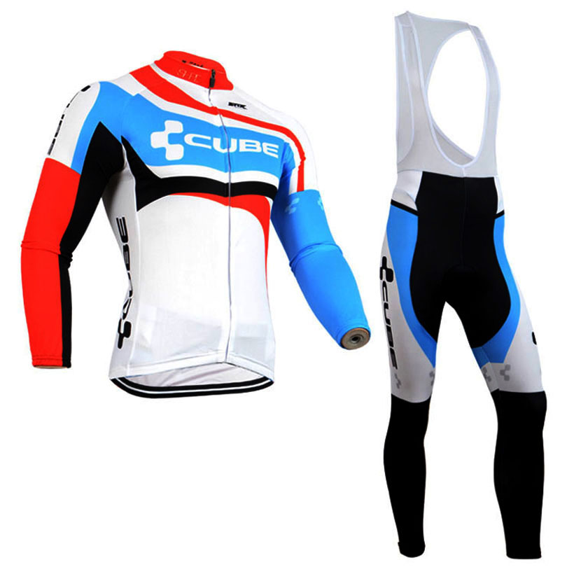 2015 cube team Ropa Ciclismo Winter Thermal Fleece Cycling Kits Long Style Cycling Jersey+bibs Bike Cycling Clothing<br><br>Aliexpress