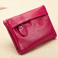 Women Genuine Wallet Hot selling Oil Wax Leather Leather Short Style Wallet With Zipper Pocket Coin
