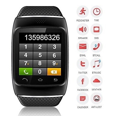 ZGPAX S12 Wearable Smartwatch,Camera Media Message Control/Hands-Free Calls/Pedometer for Android/iOS(China (Mainland))